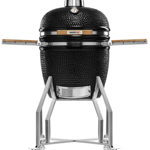 KAMADOCHEF_1900_Prestige_Diamond_Black_Inox_with_cart_1