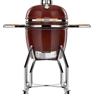 KAMADOCHEF_1900_Prestige_Red_Smooth_Inox_Shiny_with_cart_1